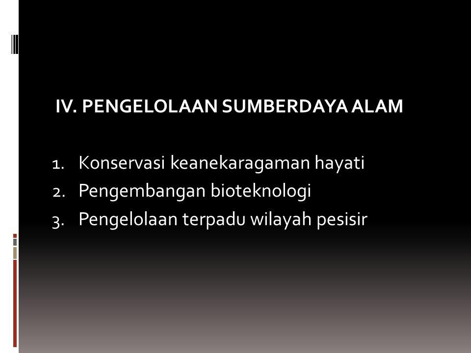 IV. PENGELOLAAN SUMBERDAYA ALAM