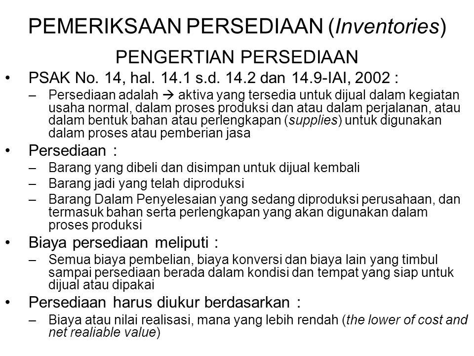 PEMERIKSAAN PERSEDIAAN (Inventories)