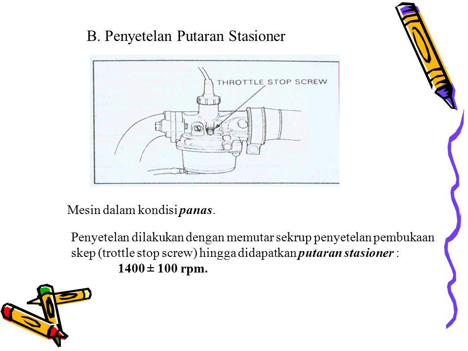 B. Penyetelan Putaran Stasioner