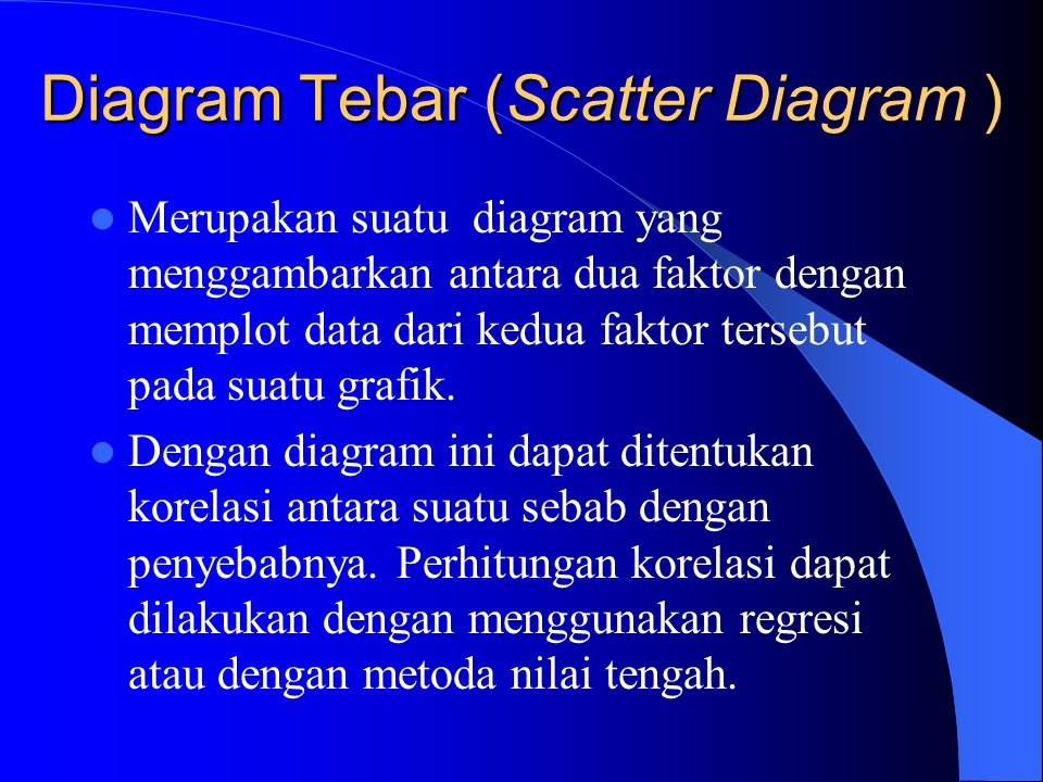 Diagram Tebar (Scatter Diagram )