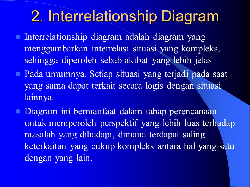 2. Interrelationship Diagram