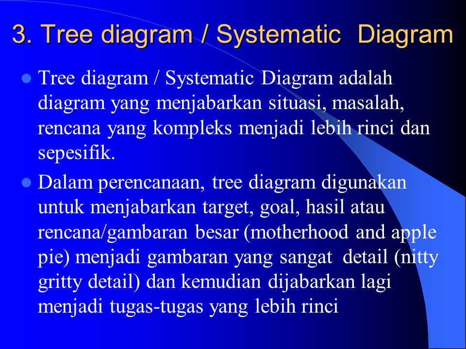 3. Tree diagram / Systematic Diagram