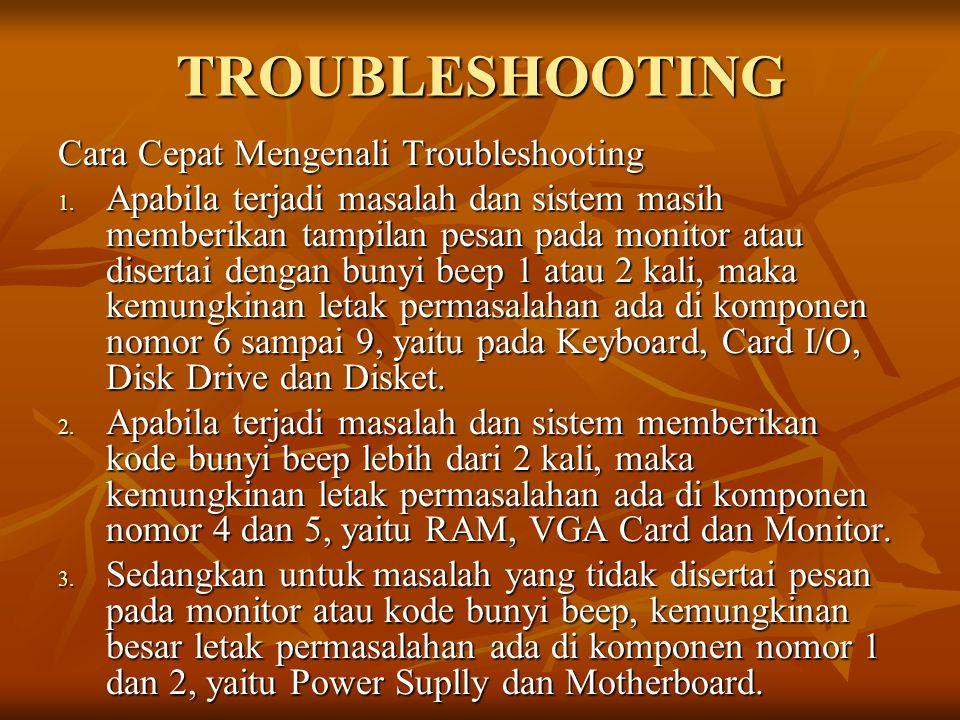 TROUBLESHOOTING Cara Cepat Mengenali Troubleshooting