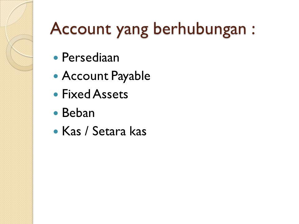 Account yang berhubungan :