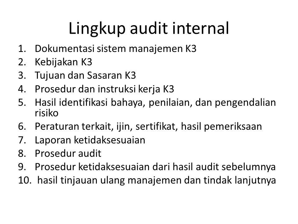 Lingkup audit internal