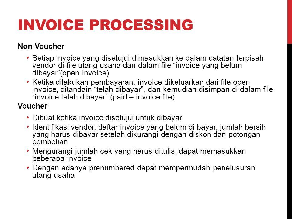 Invoice Processing Non-Voucher