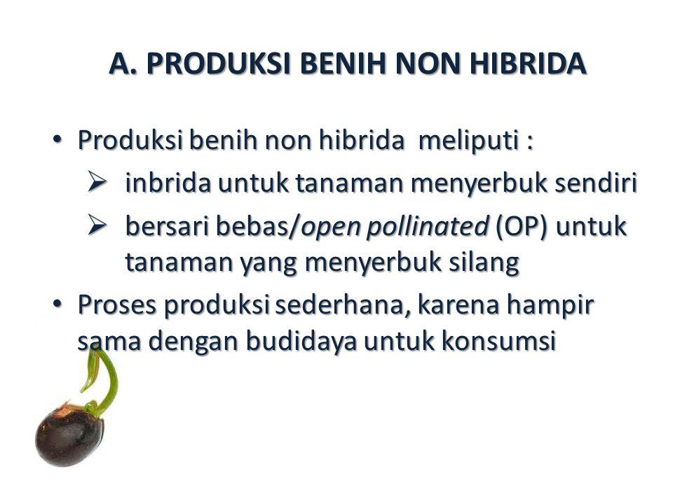 A. PRODUKSI BENIH NON HIBRIDA