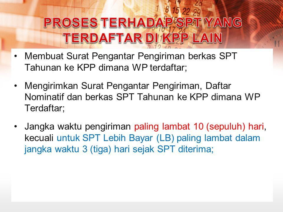 Proses terhadap SPT yang Terdaftar di KPP Lain