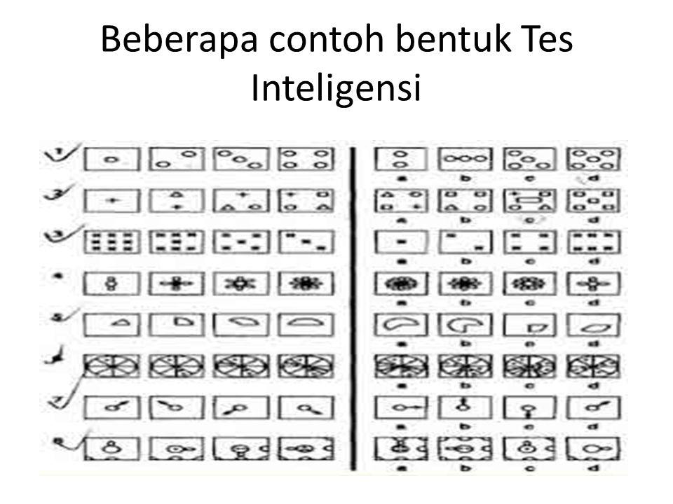Beberapa contoh bentuk Tes Inteligensi