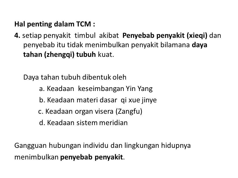 Hal penting dalam TCM : 4.