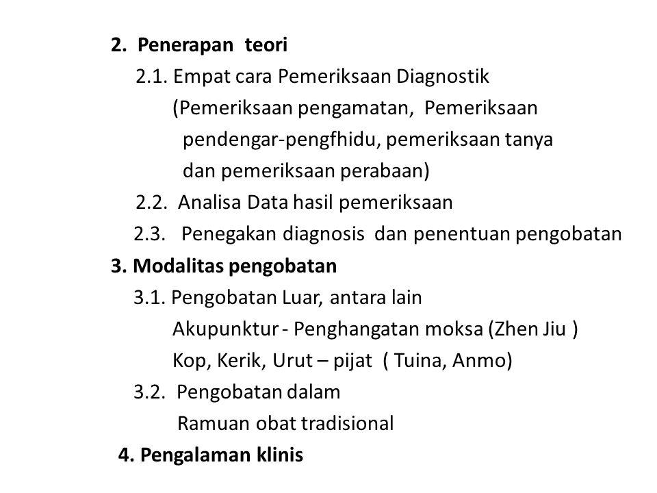 2. Penerapan teori 2.1.