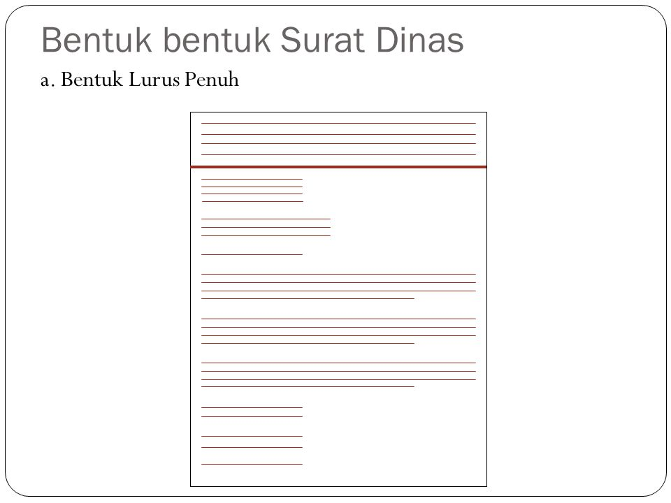 Bentuk bentuk Surat Dinas