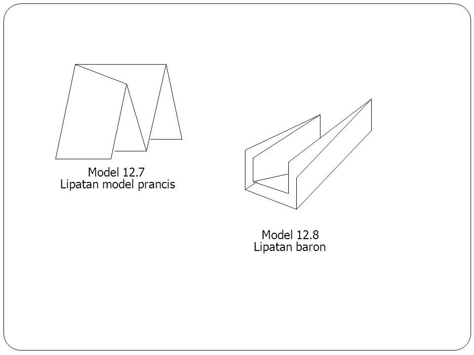 Model 12.7 Lipatan model prancis Model 12.8 Lipatan baron