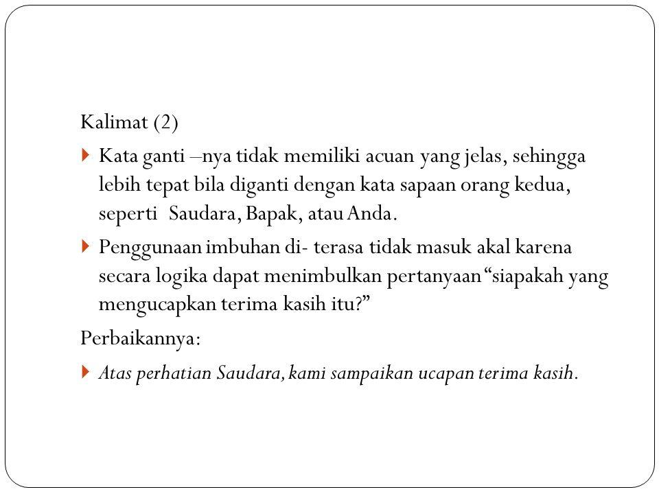 Kalimat (2)