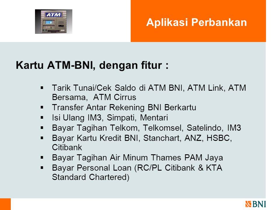 Kartu ATM-BNI, dengan fitur :