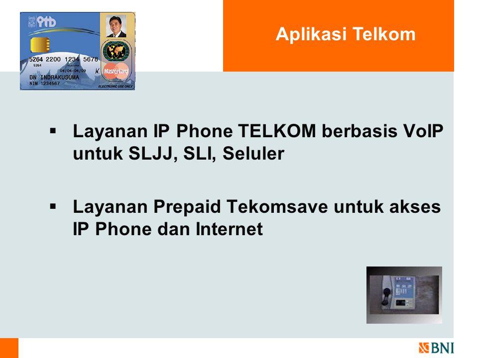 Aplikasi Telkom Layanan IP Phone TELKOM berbasis VoIP untuk SLJJ, SLI, Seluler.