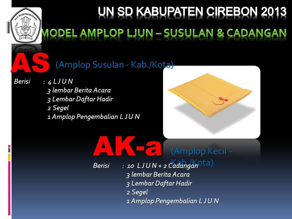 MODEL AMPLOP ljun – SUSULAN & CADANGAN