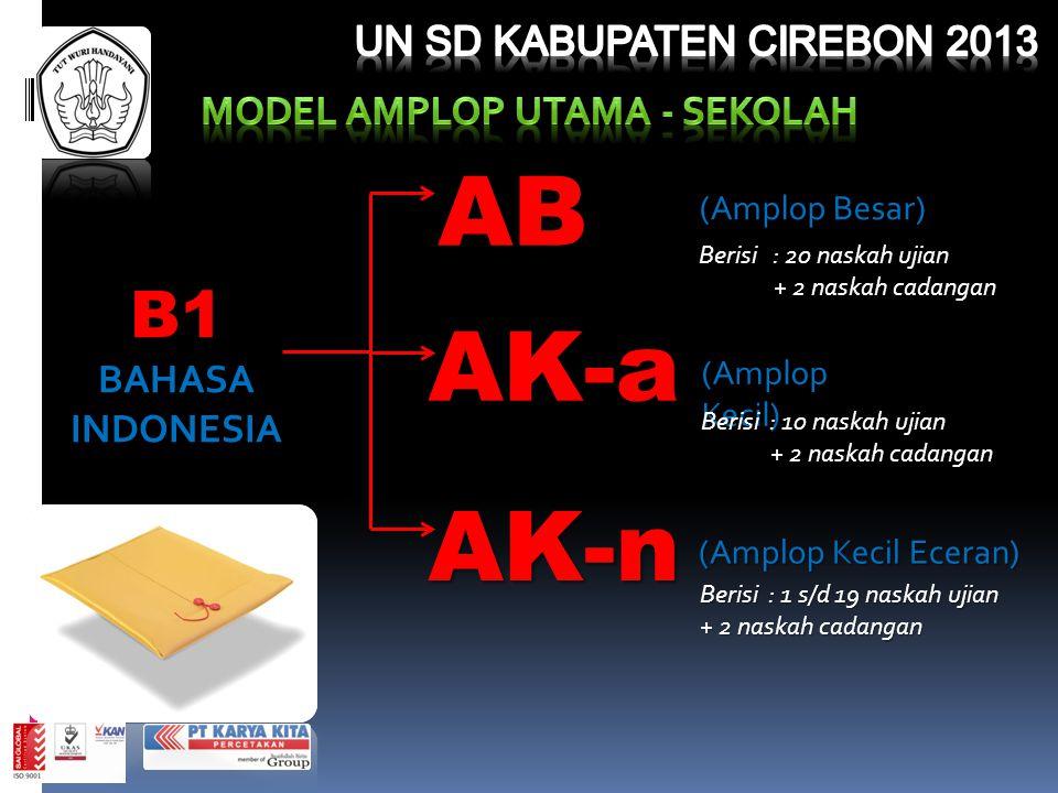 MODEL AMPLOP UTAMA - SEKOLAH