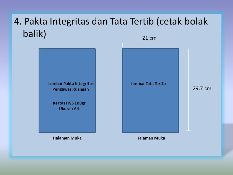 Lembar Pakta Integritas