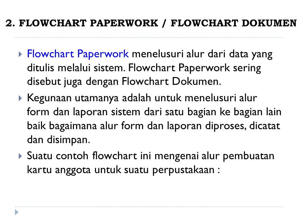 2. FLOWCHART PAPERWORK / FLOWCHART DOKUMEN