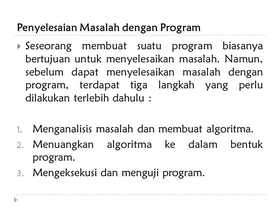 Penyelesaian Masalah dengan Program