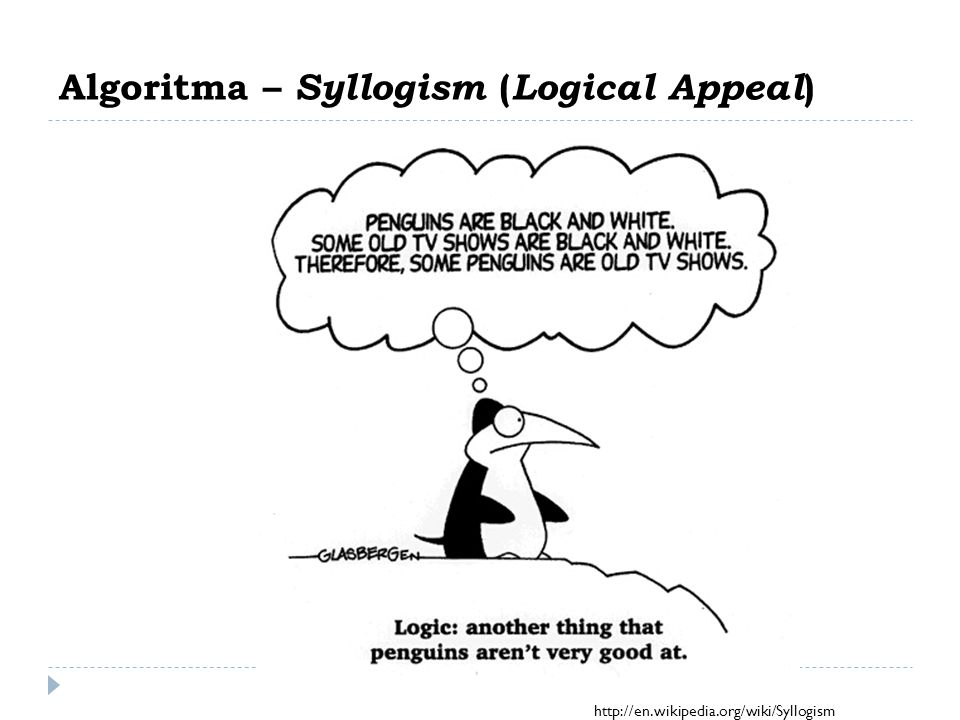 Algoritma – Syllogism (Logical Appeal)