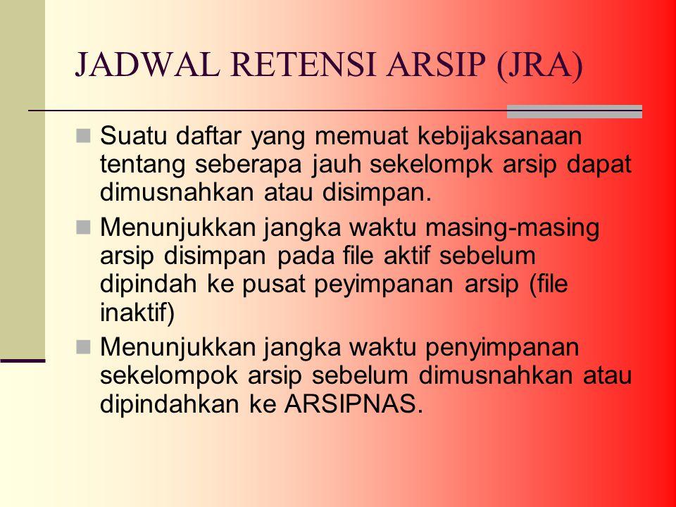 JADWAL RETENSI ARSIP (JRA)