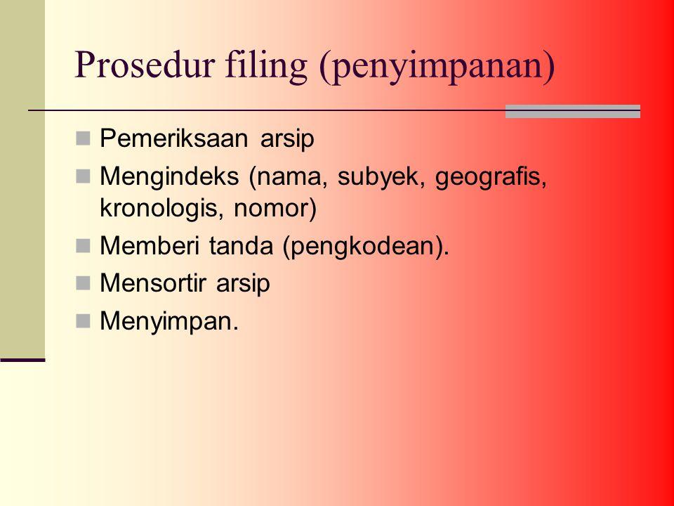 Prosedur filing (penyimpanan)