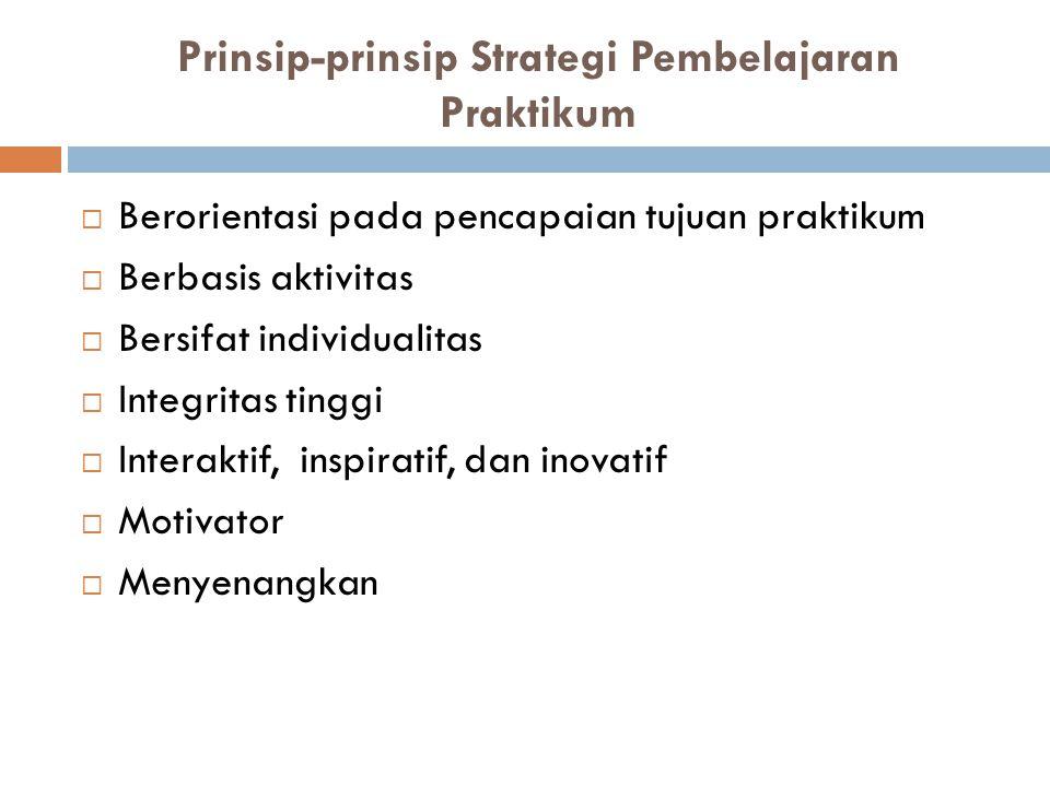 Prinsip-prinsip Strategi Pembelajaran Praktikum