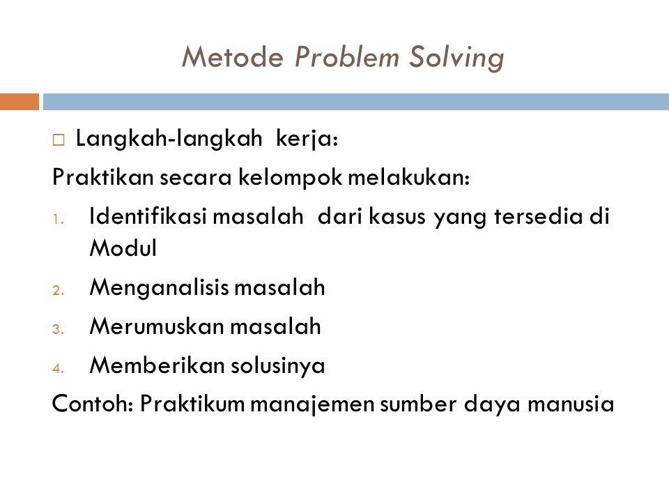 Metode Problem Solving