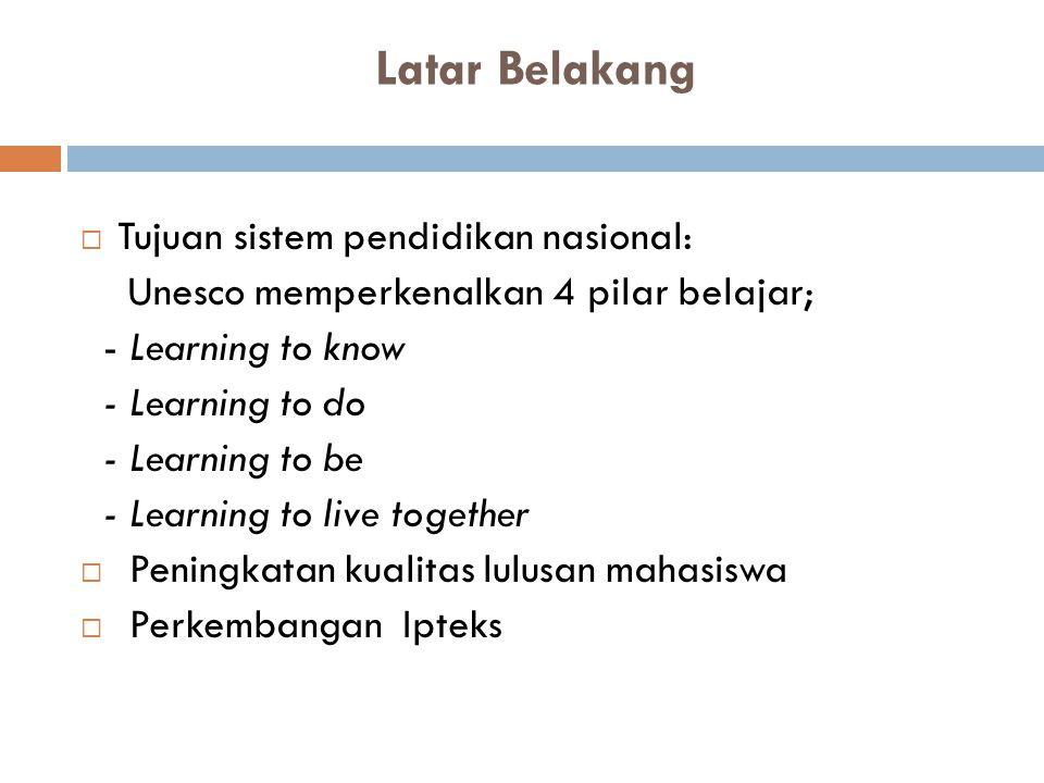 Latar Belakang Tujuan sistem pendidikan nasional: