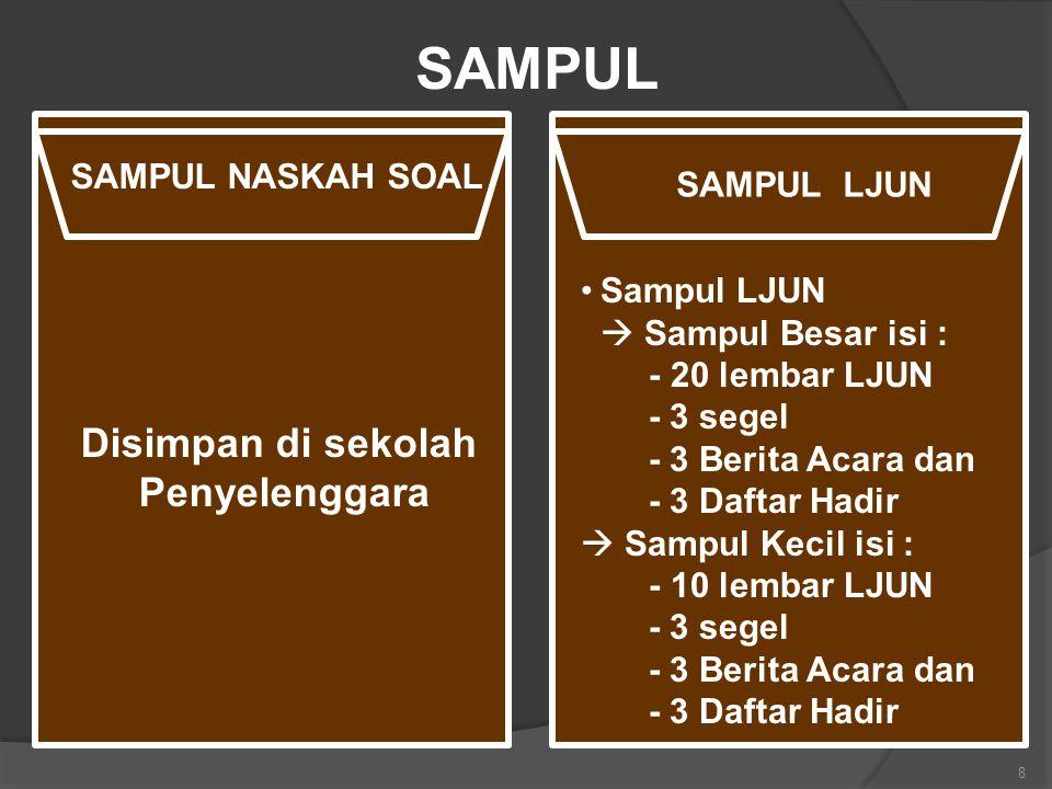 SAMPUL Disimpan di sekolah Penyelenggara SAMPUL NASKAH SOAL