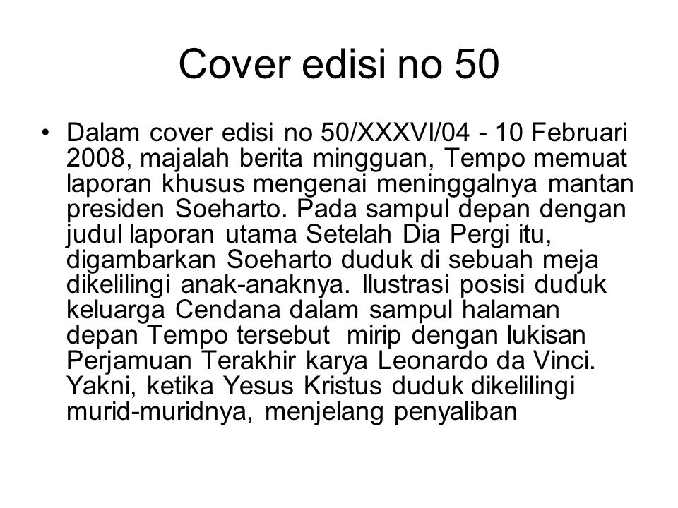 Cover edisi no 50