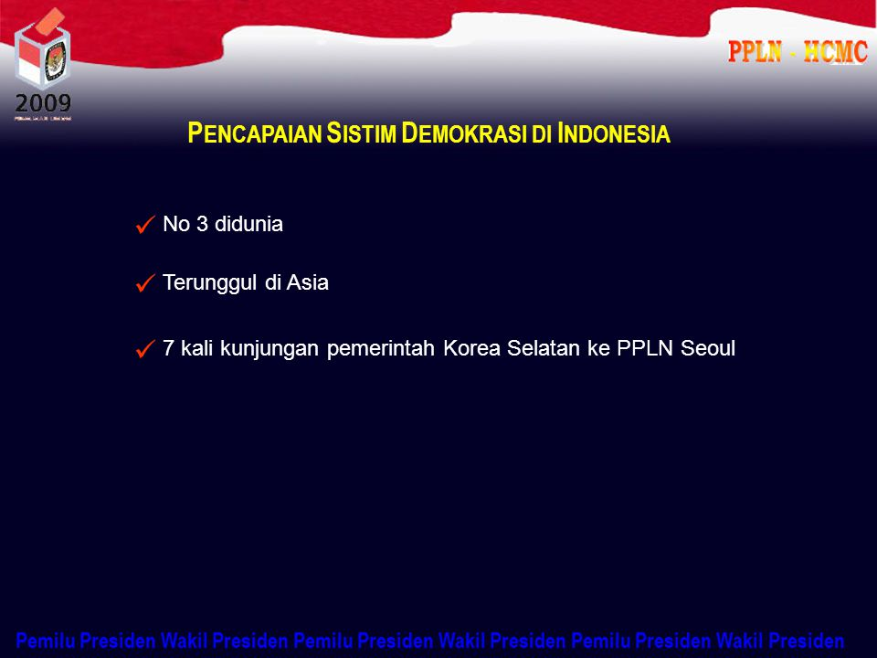 PENCAPAIAN SISTIM DEMOKRASI DI INDONESIA