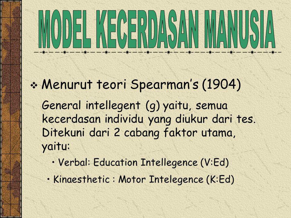 MODEL KECERDASAN MANUSIA
