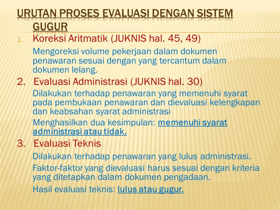 Urutan Proses Evaluasi dengan Sistem Gugur