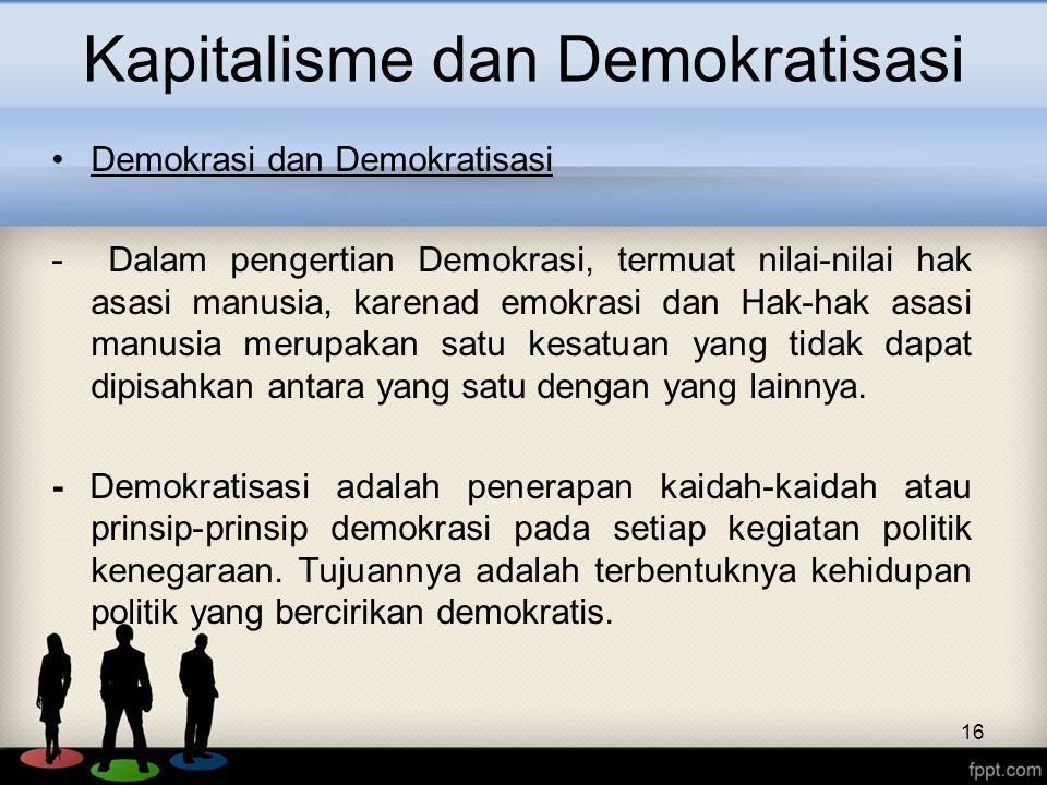 Kapitalisme dan Demokratisasi
