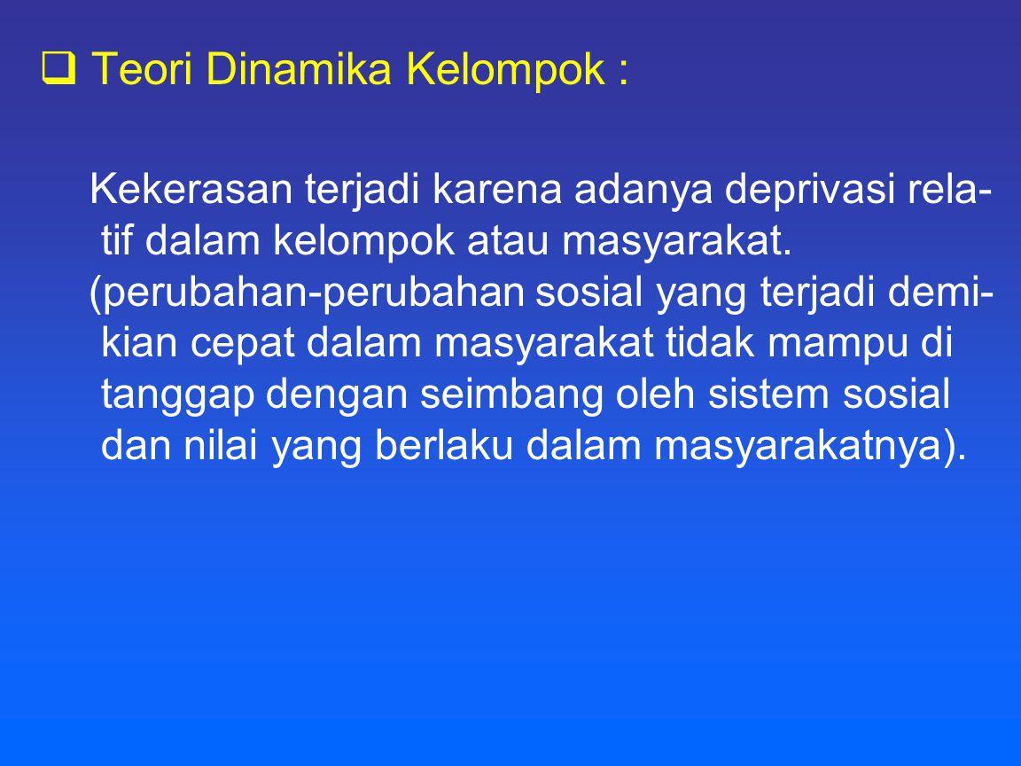 Teori Dinamika Kelompok :