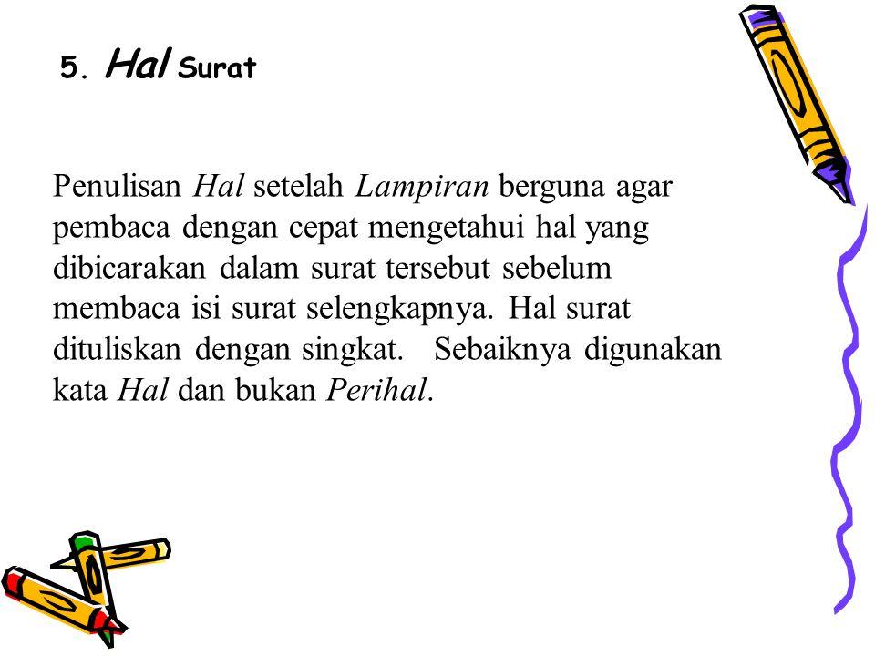 5. Hal Surat