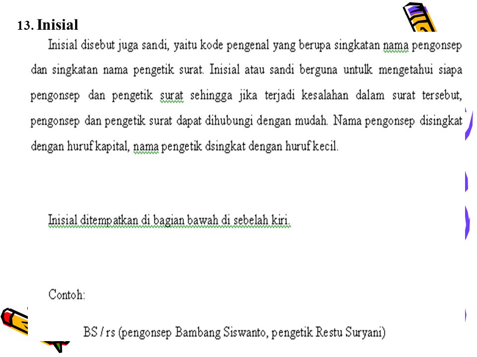 13. Inisial