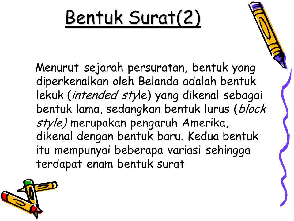 Bentuk Surat(2)