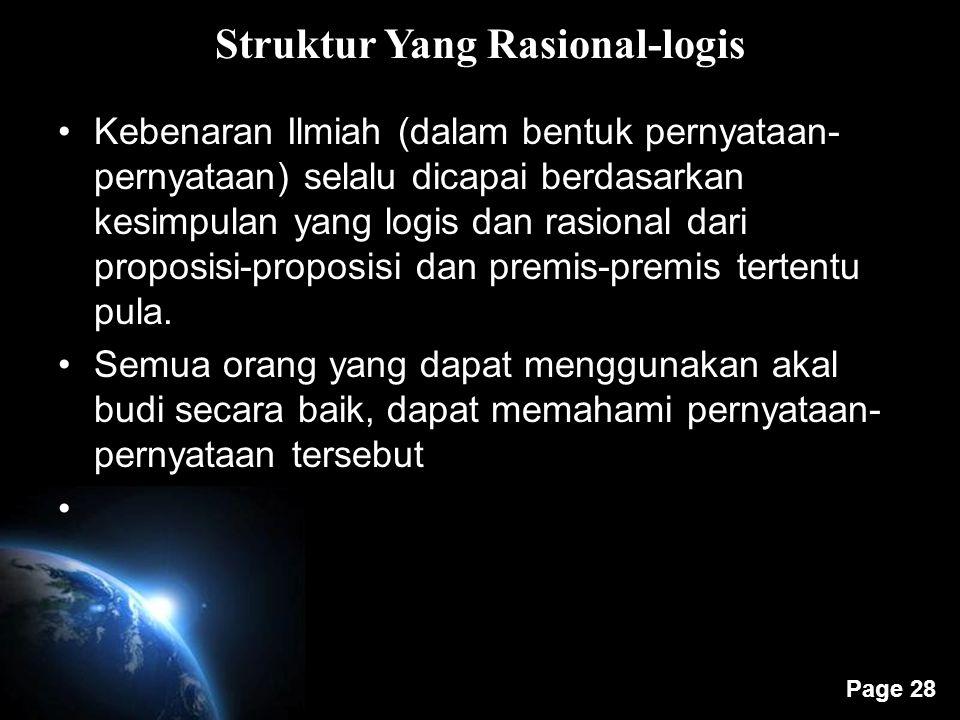 Struktur Yang Rasional-logis