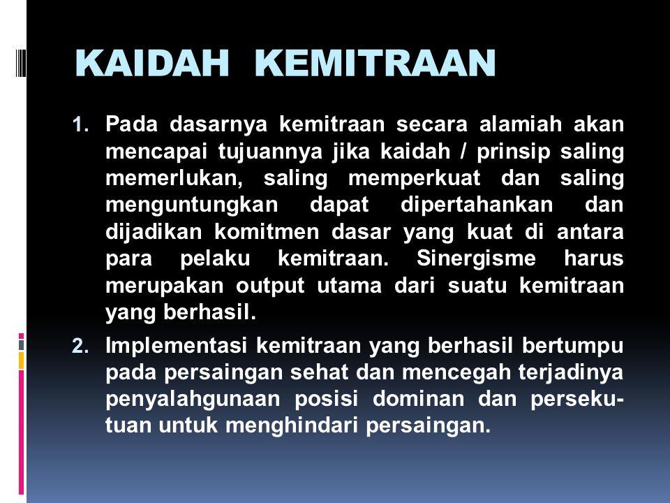 KAIDAH KEMITRAAN