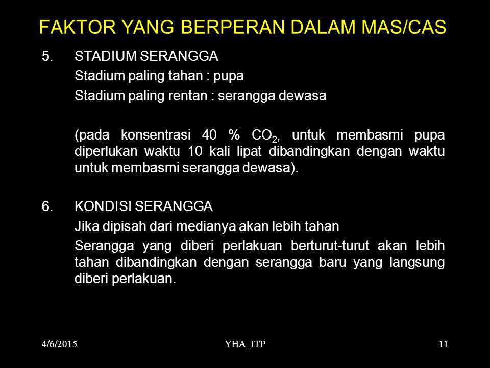 FAKTOR YANG BERPERAN DALAM MAS/CAS