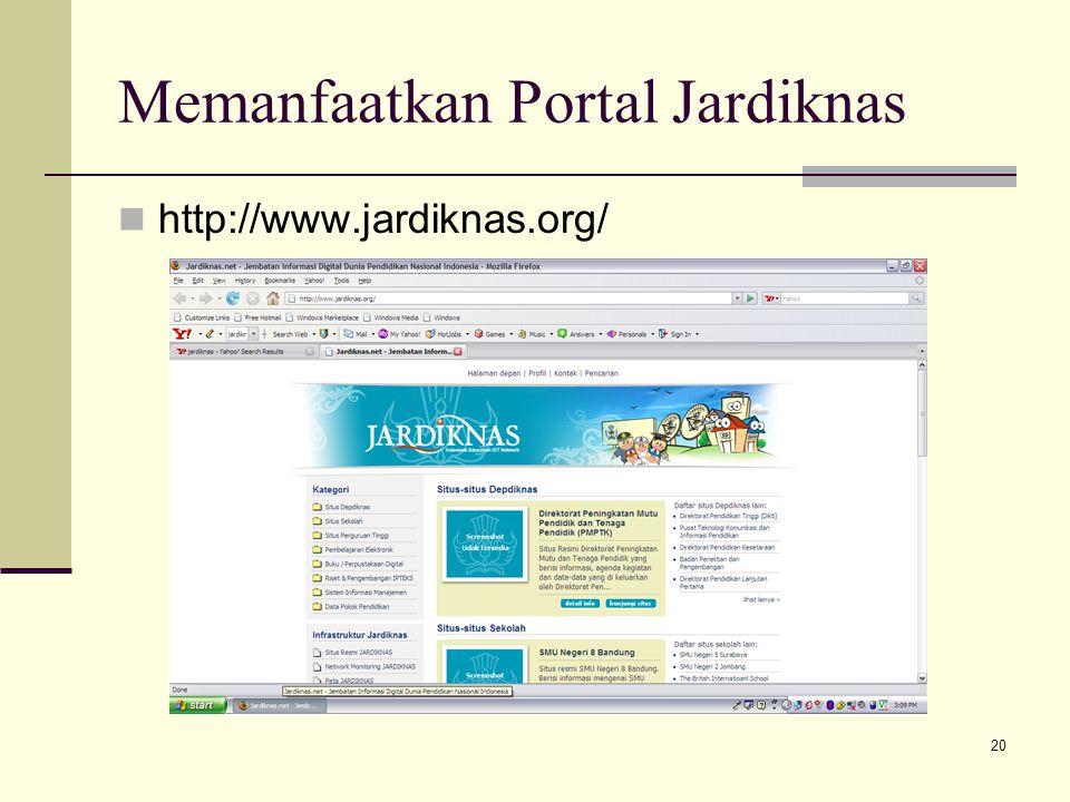 Memanfaatkan Portal Jardiknas