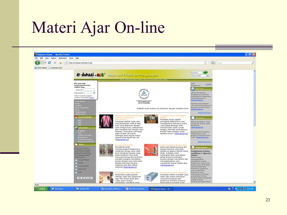 Materi Ajar On-line