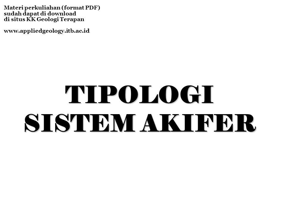 TIPOLOGI SISTEM AKIFER