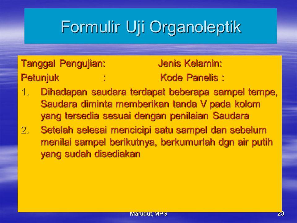 Formulir Uji Organoleptik
