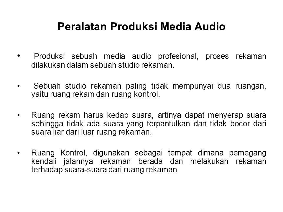 Peralatan Produksi Media Audio