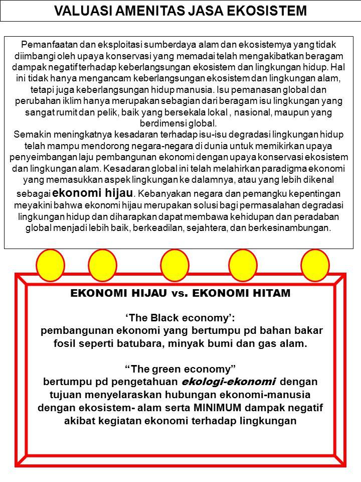 VALUASI AMENITAS JASA EKOSISTEM EKONOMI HIJAU vs. EKONOMI HITAM